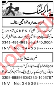 Marketing Staff Jobs in Peshawar 2018