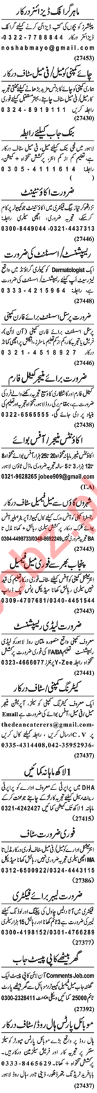 Daily Nawaiwaqt Newspaper Classified Jobs 2018