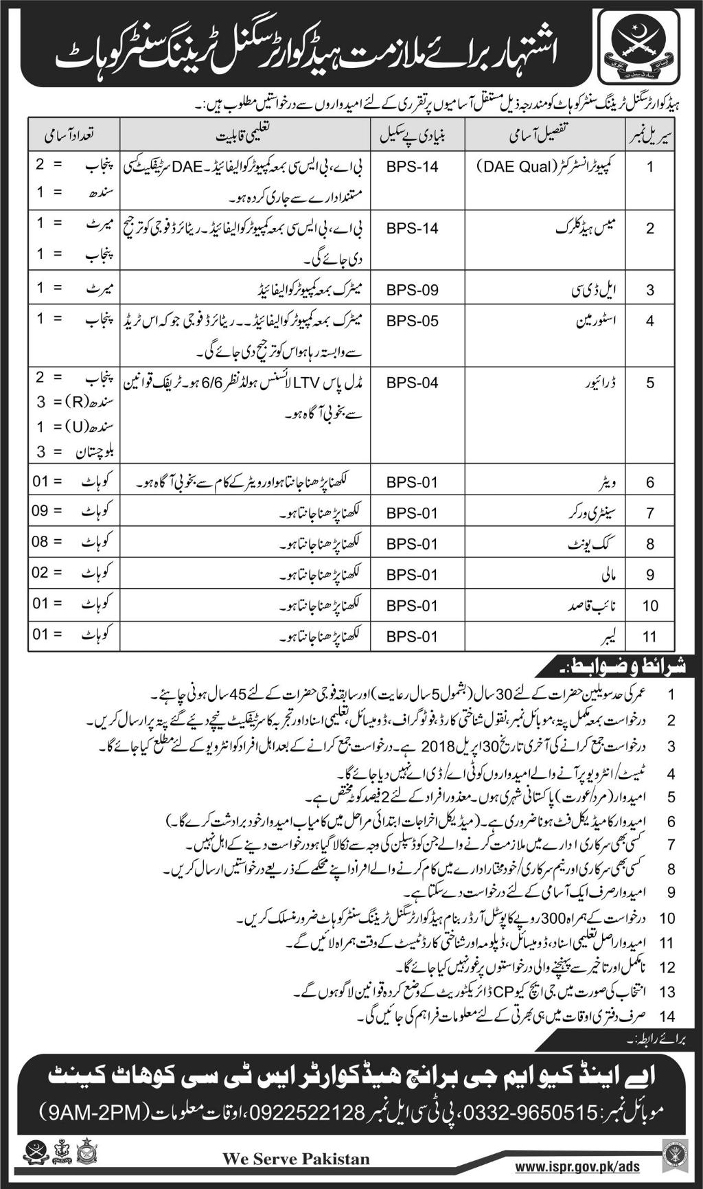 Ammco bus : Pak army jobs online registration form