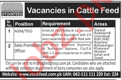 Stockfeed Vacancies - Sales Promotio Officer, ASM/TSO