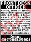 Front Desk Officer