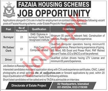 Fazaia Housing Schemes