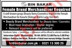 Bin Bakar Beauty Items, Cosmetics Group - Brand Merchandiser