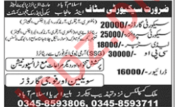 Lady Searcher & Security Supervisor Jobs 2018