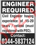 Civil Engineer Jobs 2018 in Islamabad