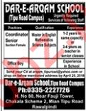Dar e Arqam School Tipu Road Rawalpindi Jobs for Teachers