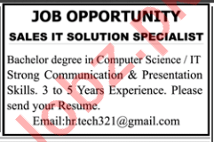 Sales IT Solution Specialist