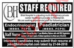 Endocrinologist, Pediatrician & Staff Nurse Jobs 2018