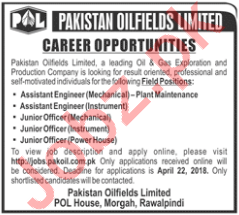 Pakistan Oilfields Limited POL - Technical Staff