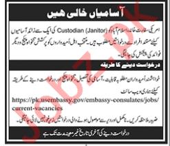 US Embassy Islamabad Jobs 2018 for Custodian 2019 Job