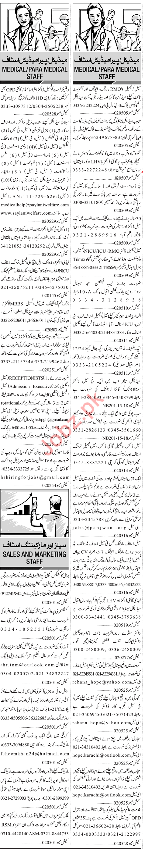 Paramedical Staff Jobs in Karachi