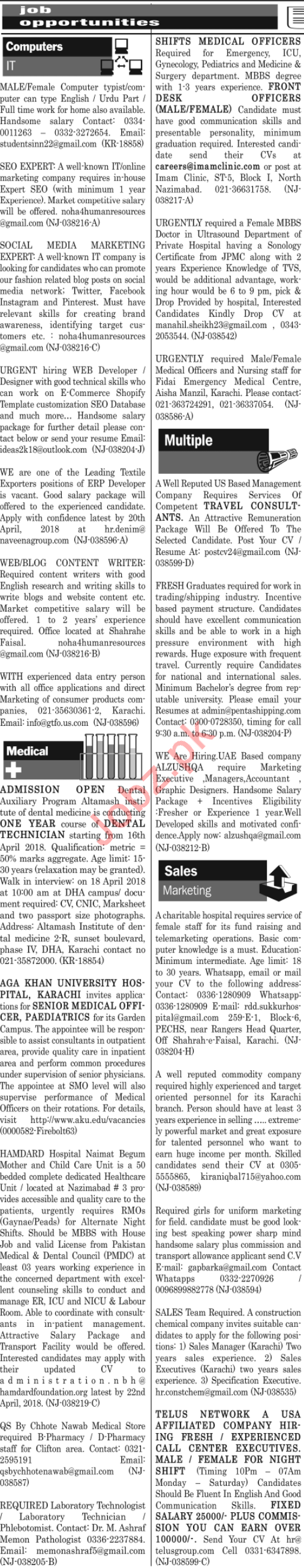 Jang News Paper Urdu Karachi Today Jobs Daily Jang Newspaper