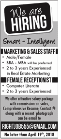 Male / Female Marketing Sales Staff Job Opportunity