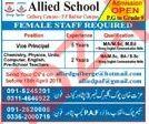 Allied School Peshawar Cantt Jobs 2018 for Teacher