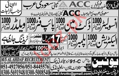 Insulator, Docketman & Pipefitter Jobs in Saudi Arabia