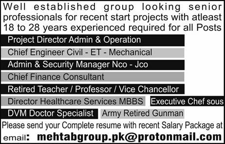 Project Director Admin & Operations Job Opportunity