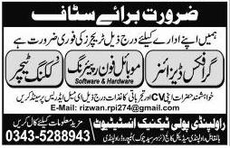 Rawalpindi  Polytechnic Institute Graphic Design Jobs