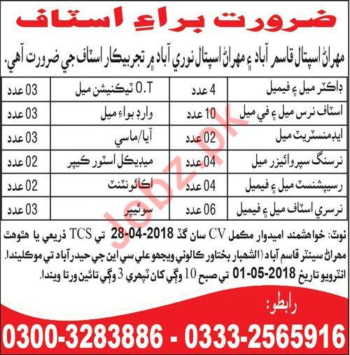 Mehran Hospital Hyderabad Jobs 2018 for Doctors & Nurses