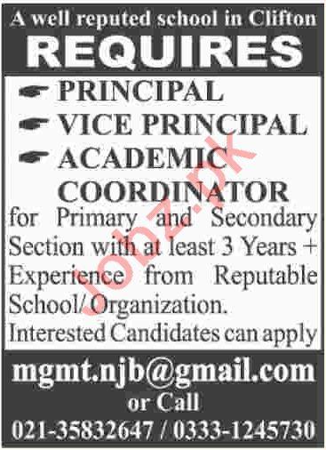Principal, Vice Principal & Academic Coordinator Jobs 2018 2018 Jobs ...