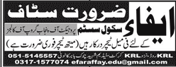 EFA School System Female Teachers Jobs