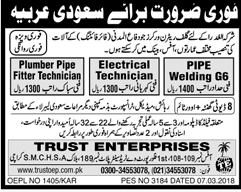 Plumber Pipe Fitter Technicians, Pipe Welders Job Opportunit