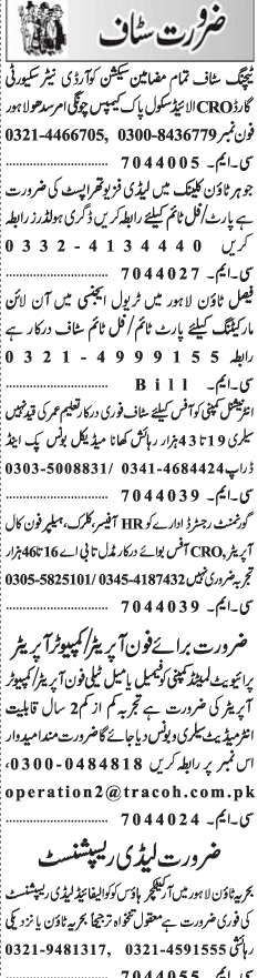 Section Coordinators, Security Guards Job Opportunity