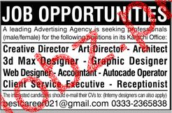 Creative Director, Art Directors job in Advertising Agency