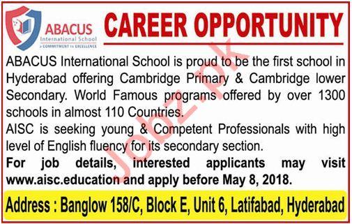 ABACUS International School Teachers Jobs 2018
