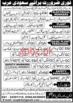 Electricians, Instrument Technicians Job Opportunity