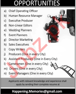 Chief Operating Officer & HR Manager Jobs 2018