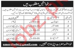 Accountant, Time Officer, Cashier & Store Incharge Jobs 2018