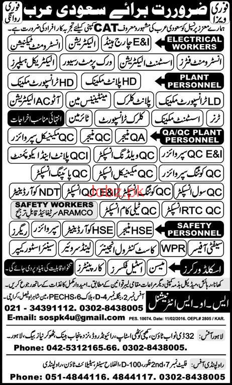 Instrument Fitters, Electricians , Maintenance Man Wanted