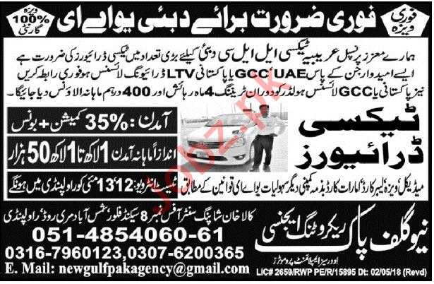 Taxi Driver Jobs Opportunity in Dubai