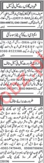 Hotel & Restaurant Staff Jobs Opportunity in Multan