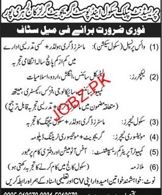 President Public School & Post Graduate Girls College Jobs