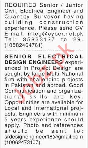 Senior Electrical Design Engineers Required