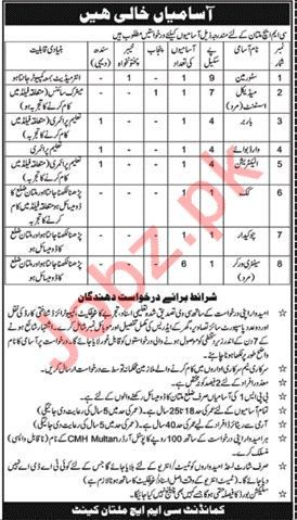 CMH Multan Jobs 2018 Medical Assistant & Store Man