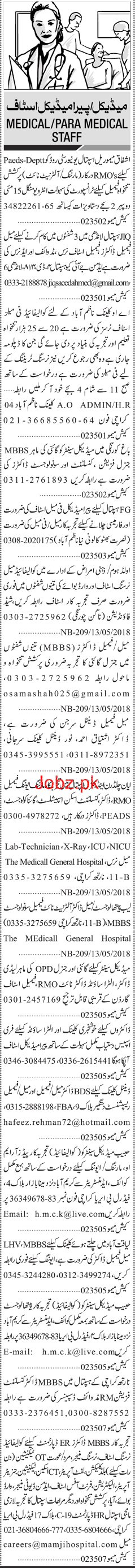 Resident Medical Officers RMO, Female Staff Nurses Wanted