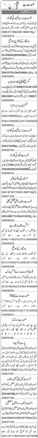 Electricians, Security Guards, Data Entry Operators Wanted