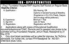 Fauji Foundation Hospital Rawalpindi Staff Nurses Jobs 2019 Job