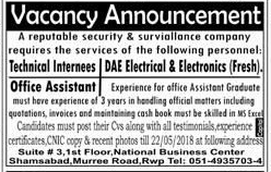 Technical Internees, DAE Electrical / Electronics Wanted