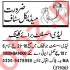 Lady Assistant Jobs 2018 in Lahore