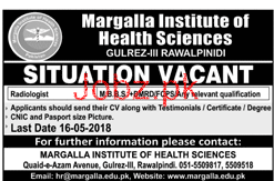 Margalla Institute of Health Sciences Jobs