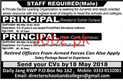 Principals Job in Private Sector Leading Organization