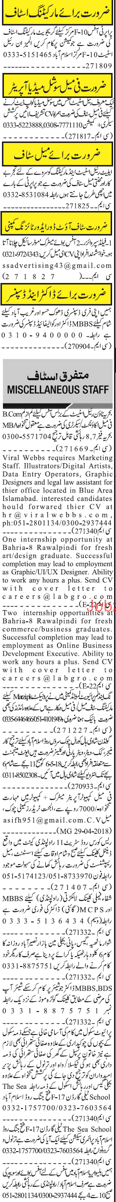 Marketing Staff, Social Media Operators Job Opportunity
