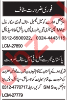 Male & Female Staff Jobs Career Opportunity 2018