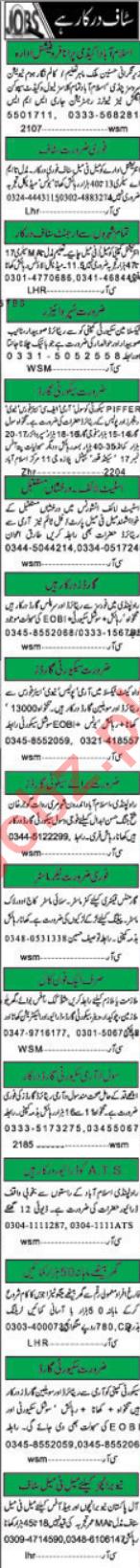 Daily Khabrain Newspaper Classified Jobs 2018