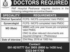 PAF Hospital Peshawar Medical officers Jobs