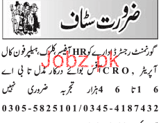 Human Resource HR Officer, Phone Call Operators Wanted