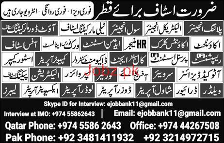 Salesmen, Accountant and Store Keepers Job Opportunity